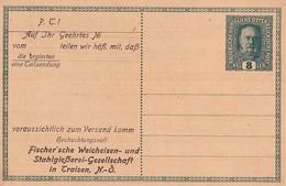 Traisen, Österreich, 1916  Fischer'sche Weicheisen - Cartas