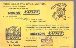 Buvard NAPPEY Montres NAPPEY Le Chic Allié à La Qualité - Buvards, Protège-cahiers Illustrés