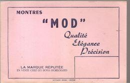 Buvard MOD Montres MOD Qualité Elégance Précision - Blotters