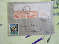 Lettre De 1950 Avec 2 Tp N°860 Et Une Vignette La Jeunesse Au Plein Air 10 Fr - Postmark Collection (Covers)