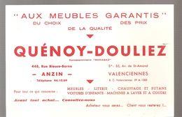 Buvard Quénoy - Douliez Aux Meubles Garantis à ANZIN Et VALENCIENNES - Buvards, Protège-cahiers Illustrés