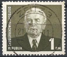 D.D.R. - 1957 Presidente Pieck 1Dm Oliva Scuro F.3 # Michel 622 - Scott 339 - Unificato 622 USATO - DDR