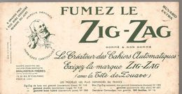 Buvard ZIG-ZAG FUMEZ LE ZIG-ZAG Le Créateur Des Cahiers Automatiqes - Tobacco
