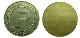 04393 GETTONE TOKEN JETON FICHA PARCHEGGIO PARKING PARKMUNZE PARKING EQUIPMENT AND SERVICE LTD - Unclassified