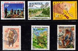 Polynésie Française 1985 à 2000 - Y&T 229, 442, 479, 574, 627 Et Michel 798  (oblitérés) - French Polynesia