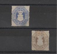 Allemagne - Mecklenbourg- Strelitz  _ ( 1864  )_  N°5/6 - Mecklenburg-Strelitz