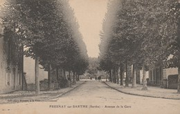 CPA - FREYSNAY Sur SARTHE (Sarthe). - Avenue De La Gare. Edit-Photo Métayer. 1908 - France