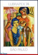 Ref. BR-1360 BRAZIL 1974 - FIVE WOMEN, DI CAVALCANTI, , PAINTING, LUBRAPEX, ART, MI# B36, MNH, PHILATELY 1V Sc# 1360 - Filatelistische Tentoonstellingen