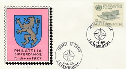 1966 Luxembourg NATO DAY EVENT Cover  WHO UN Stamps United Nations - NATO