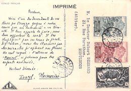 Afrique > CONGO FRANCAIS (pirogue Piroguier)  -PUB IONYL Laboratoires LA BIOMARINE Timbre Stamp    Afrique A.O.F - Französisch-Kongo - Sonstige