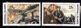 Marshall Eilanden 1990 Mi Nr 303 - 304 War II, Invasie In Nederland En Belgie - Marshall Islands