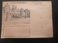 Protège-cahiers Illustré Série Du Château De Fontainebleau Non Plié  Signé P. Caillaud,Touristique Thème école écriture - Protège-cahiers