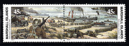 Marshall Eilanden 1990 Mi Nr 305 + 306  War II,evacuatie Van De Britse Troepen In Duinkerken - Marshall Islands