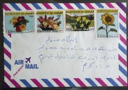 Iraq Kurdistan Region 2001 Cover - Flowers Stamps - Iraq