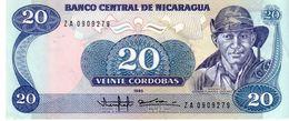 Nicaragua P.162  20 Cordobas 1985 Au - Nicaragua