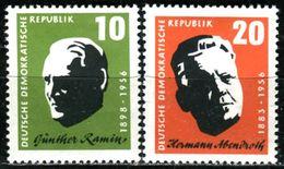 DDR - Michel 604 / 605  - ** Postfrisch (B) - 10-20Pf  Günther Ramin Und Hermann Abendroth - [6] Oost-Duitsland