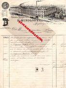 ALLEMAGNE- MAGDEBOURG- RARE FACTURE H. MUNDLOS-FABRIQUE MACHINES A COUDRE-MACHINE A COUDRE-1902-M. GAILLION DOUAI 62 - Germany
