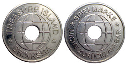 01972 GETTONE TOKEN JETON FICHA AMUSEMENT CENTER TREASURE ISLAND BRINKSMA PLAY SPIELMARKE - Allemagne