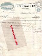 ALLEMAGNE- MAGDEBOURG- RARE FACTURE H. MUNDLOS-FABRIQUE MACHINES A COUDRE-MACHINE A COUDRE-1902-M. GAILLION DOUAI 62 - 1900 – 1949