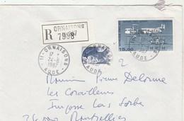 Yvert 2240 Liberté Gandon + PA 57 Sur Lettre Recommandée ORNAISONS Aude 24/6/1987 - Lettres & Documents