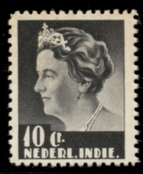 Nederlands Indië - 1933 - Proef 173d  - Wilhelmina 10 Cent Donkergrijs Middenstuk In Klein Formaat, Getand - Indes Néerlandaises