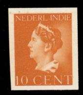 Nederlands Indië - 1941 - Proef 226h - 10 Cent Oranje, Konijnenburg Met Afgekeurde Tekst Nederl. Indie - Ongetand, Zg - Niederländisch-Indien