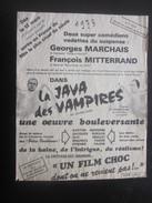 """12-3-1973 Publicité Politique Satirique Original""""La Java Des Vampires""""G.Marchais F.Mitterrand""""Film Choc""""en Soviet Color - Historische Dokumente"""