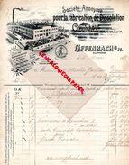ALLEMAGNE-OFFENBACH- OTTO KURTH-RARE FACTURE FABRICATION DISSOLUTION CAOUTCHOUC-PNEUMATIQUE-1898-MARTIN GAILLION DOUAI - Allemagne