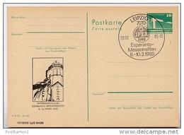 BACHDENKMAL Leipzig DDR P84-5-85 C109 Postkarte Zudruck Sost. 1985 - Music