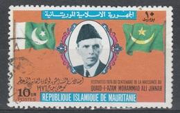 Mauritania, Muhammad Ali Jinnah, Founder Of Pakistan, 1976, VFU - Mauritanië (1960-...)