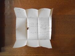 CAMBRAI LESNE-LAUDE Md DE LEVURE LINS CHANVRES CORDAGES COURRIER DU 7 FEVRIER 1856 CACHET CAMBRAI 7 FEVR 56 TIMBRE 20c E - Manuscrits