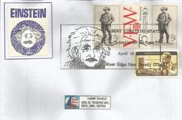 """Cinquantenaire Disparition D'Albert Einstein New-Jersey """"Scientist For The Ages"""",lettre 2005 Du New-Jersey - Albert Einstein"""
