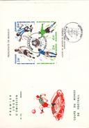 MONACO @ FDC N° 576 Grand Format 22,8 Cm X 16,3 Cm BLOC SPORT FOOTBALL Coupe Du Monde Espagne 1982 - FDC