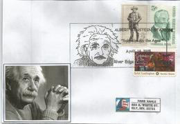 Cinquantenaire Disparition D'Albert Einstein 1955.Nobel Prize In Physics (1921), Lettre 2005 Du New-Jersey - Premio Nobel