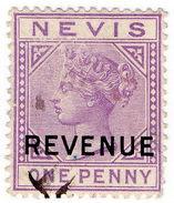 (I.B) Nevis (St Kitts) Revenue : Duty Stamp 1d (1881) - St.Kitts And Nevis ( 1983-...)