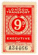 (I.B) London Transport Executive : Railway Newspapers 9d - 1952-.... (Elizabeth II)