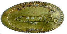 00208 GETTONE TOKEN JETON FICHA ELONGATED PENNY SOUVENIRS AUTO+TECHNIK MUSEUM THE BLUE FLAME - Allemagne