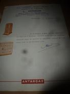 1958 Certificat Travail :feuille En-tête Magasin L. HOMEHR  (Bois-Charbon- Mazout-Appareils De Chauffage) à Neufchateau - Frankreich