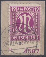 AM-Post Briefstück Minr.7 Pl-Nr. - Bizone