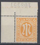 AM-Post Minr.13 Pl.-Nr. Postfrisch - Bizone