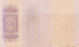 BRITISH INDIA - HUNDI / BILLS OF EXCHANGE - QUEEN VICTORIA - SIX ANNAS - UNUSED / MINT - Bills Of Exchange