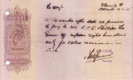 BRITISH INDIA - HUNDI / BILLS OF EXCHANGE - KING EDWARD - 1935 - TWELVE ANNAS - USED - Bills Of Exchange