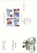 MONACO @ FDC N° 797 Grand Format 22,8 Cm X 16,3 Cm BLOC 1988 SPORT J.O Jeux Olympiques De Séoul Corée @ Vélo Cyclisme - FDC