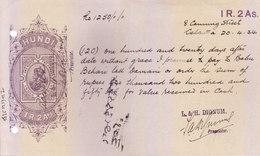 BRITISH INDIA - HUNDI / BILLS OF EXCHANGE - KING GEORGE V - 1934 - ONE RUPEE AND TWO ANNAS - USED - Bills Of Exchange
