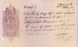 BRITISH INDIA - HUNDI / BILLS OF EXCHANGE - KING GEORGE V - 1936 - ONE RUPEE AND EIGHT ANNAS - USED - Bills Of Exchange