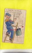 CPA  MARSEILLE - Carte à Système Complète - Rare Illustration Jeune Peintre - Andere