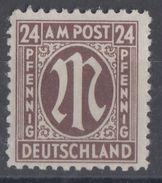 AM-Post Minr.27 Plf VI Postfrisch - Bizone