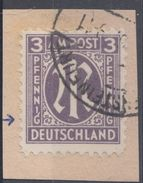 AM-Post Minr.17 Plf.I Briefstück - Bizone