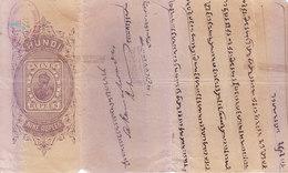 BRITISH INDIA - HUNDI / BILLS OF EXCHANGE - KING GEORGE V - 1921 - NINE RUPEES  - DRAWN ON BANK OF BENGAL, CAWNPORE - Bills Of Exchange