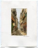Eau Forte Originale MORLAIX LA GRAND'RUE Signée Garnier - Estampes & Gravures